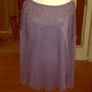 Hailey & Co. purple sweater w/crisscross back